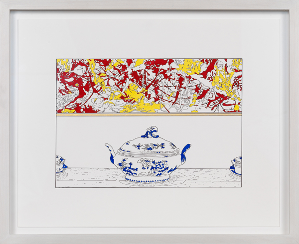 louise lawler pollock and tureen traced painted